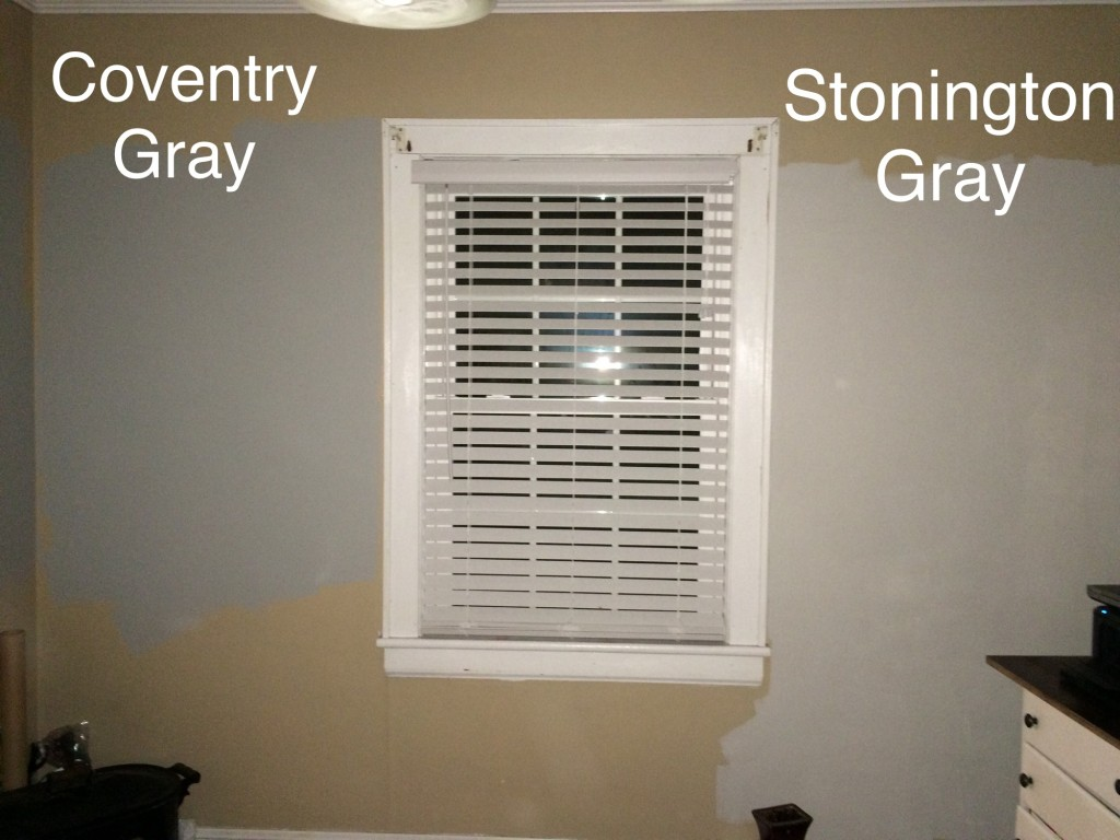 I Got Coventry Gray As Well Because Stonington Seemed Very Light And That Worried Me So Home Did One Wall In Each This Is What